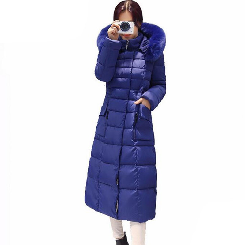 Winter Jacket Women Nice Winter Coat Women Long Parka Fur Cotton-Padded Coats Women Wadded Jackets Plus Size 4 XL LU245  hot sale 2015 new mens fur hoolded wadded coats winter long cotton padded coats women couples winter jackets plus size h4590
