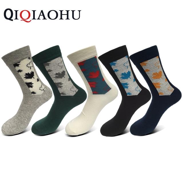 Pairs Men Cotton Weed Socks Maple Leaf Leisure Short Sokken Male Breathable Qualtiy Dress Sox Print