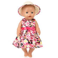 New Floral Dress Doll Clothes Fit For 43cm baby Doll clothes reborn Doll Accessories