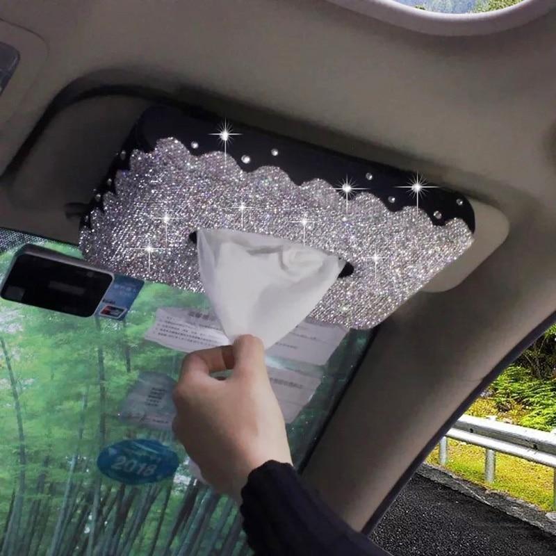 criativo bling cristal caixa de tecido 04