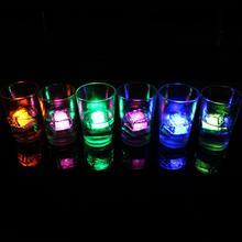 HobbyLane 12pcs/box LED Ice Cubes Glowing in Water Light Party Ball Luminous Flash Light Wedding Festival Bar Wine Glass