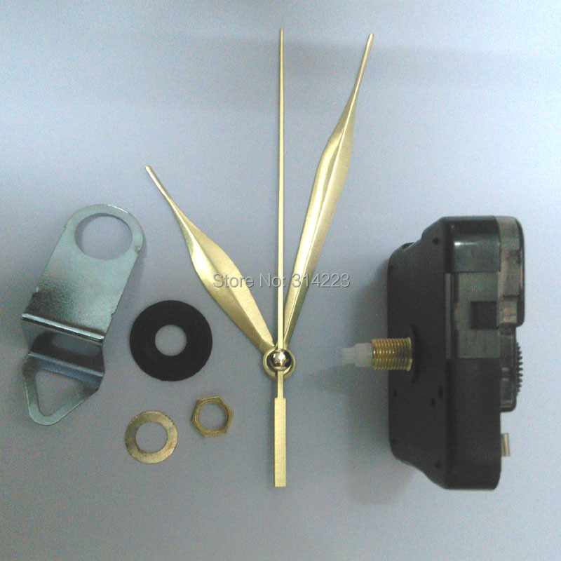 Wholesale Shaft 16,5mm Mute Quartz Clock Movement för klockmekanism Reparation DIY klocka delar tillbehör JX044 gratis frakt