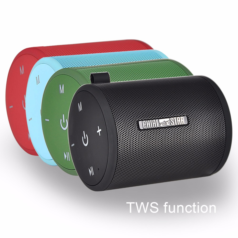 Portable TWS function Speaker Dual Driver Wireless Bluetooth Speakers LED light for Outdoor indoor 4 Color Optional