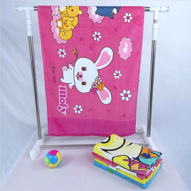 Multifunction Baby bath towel baby blanket 60x120cm 100% Cotton Breathable Blanket Swaddling Baby Printed Beach Towel For Child