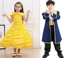 Beauty And The Beast Princess Belle Prince Adam Kids Boys Cosplay Costume New 2019 Movie Halloween Costume For Kids And Girls цена в Москве и Питере