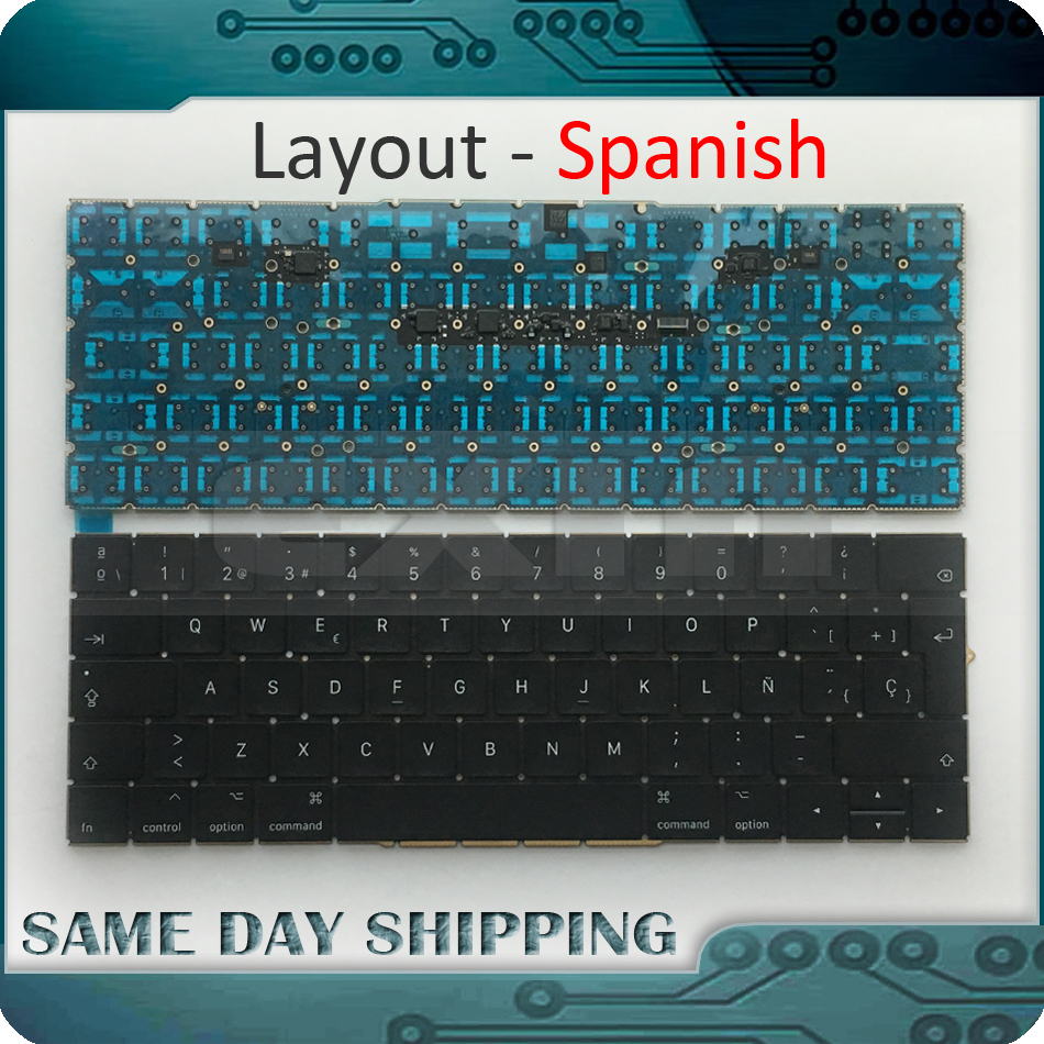 New Laptop Keyboard A1707 Spanish Spain for Macbook Pro Retina 15'' A1707 Spanish Keyboard Late 2016 Mid 2017 Year early 2016year new original a1534 for macbook 12 a1534 sp spain spanish keyboard without backlight backlit emc 2991