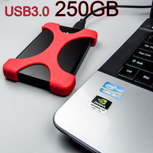 100% real External portable Hard Drives HDD USB 3.0 250GB External Hard Drives disk for Desktop and Laptop Free shipping