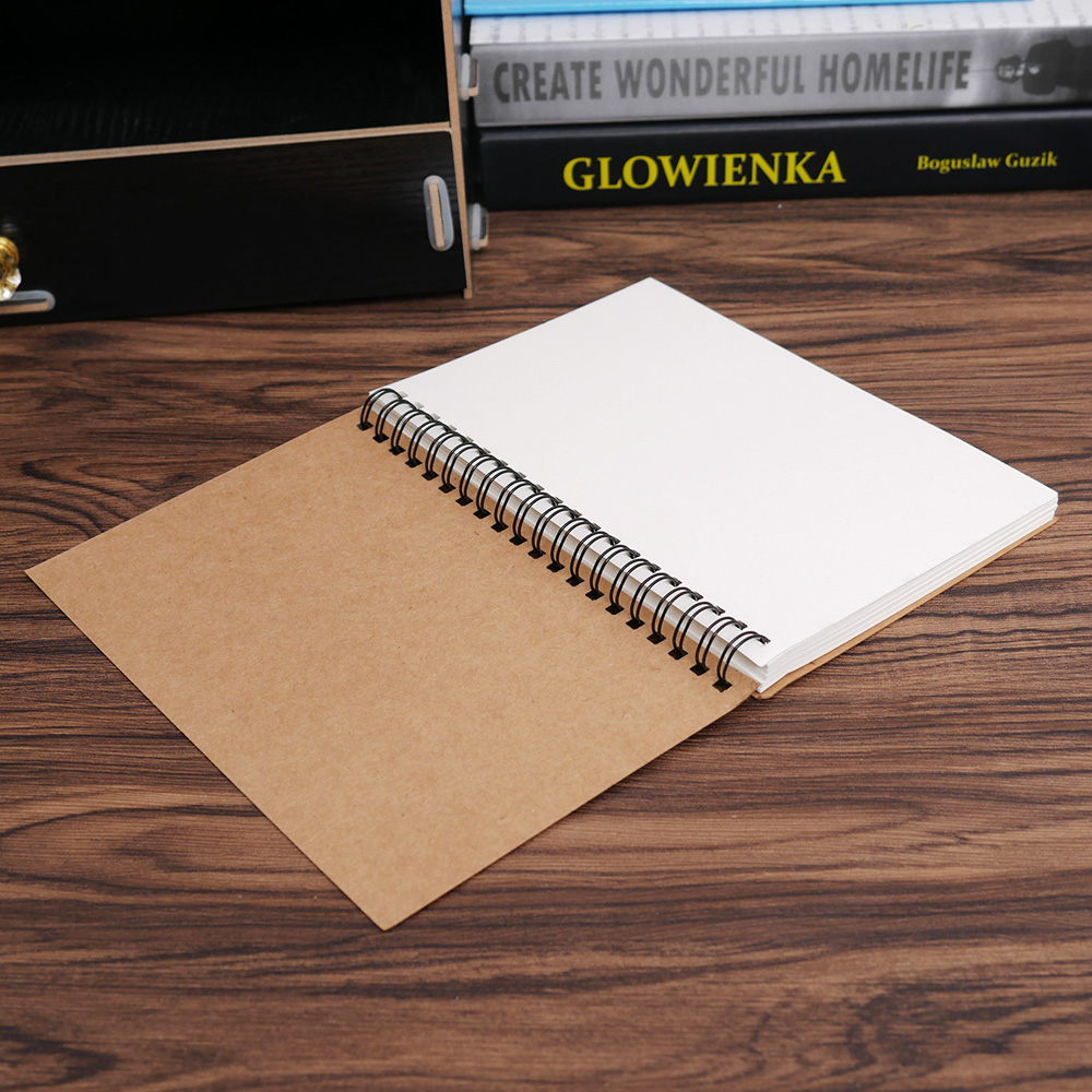 Retro Notebook Diary for Drawing Painting Graffiti Black Paper Sketch Book Memo Pad Sketchbook  Office School Supplies