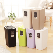 Garbage Recycling Bins Colorful PP Recycled Plastic Bin big capacity 8L 12L Cubo Kitchen Waste Pressing Type Trash Can цена