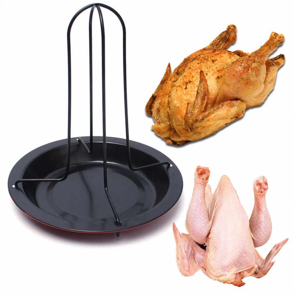 2019 Новый куриный держатель утка стойка для гриля Обжарка для барбекю ребра антипригарная углеродистая сталь гриль куриная тарелка