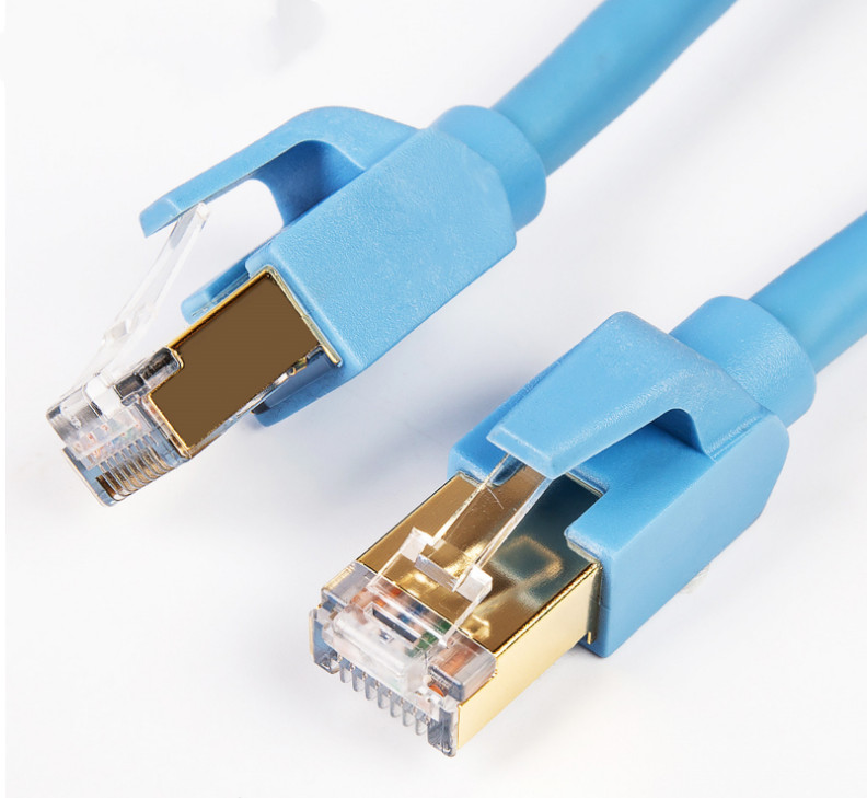8 m CAT8 doble apantallado libre de oxígeno de cobre ocho red Jersey por cable de prueba c21