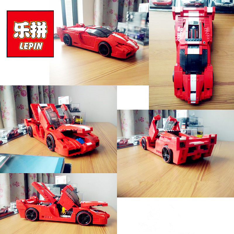 In-Stock New Lepin 21009 632Pcs Genuine Creative Series The Out of Print 1:17 Racing Car Set Building Blocks Bricks Toys