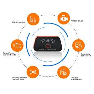 Image 3 - Vgate iCar2 ELM327 de diagnóstico del coche OBD OBD2 escáner Bluetooth Olmo 327 v2.1odb2 código OBDII lector PK elm327 V1.5 PIC18F25K80