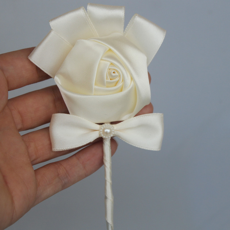 Wedding-Boutonniere-Groom-man-Pin-Brooch-Corsage-Suit-Decor-Artificial-Bride-Bridesmaid-Wrist-Flower-Satin-Rose