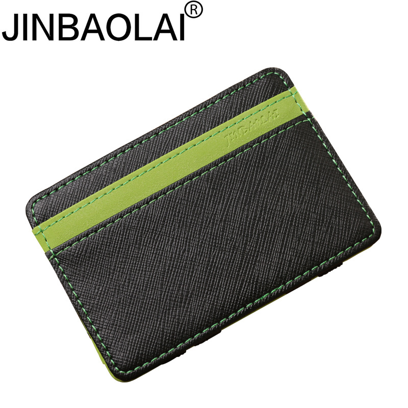 Casual Men Wallets Card Holder Brand Designer Money Purse Male Wallet Mini Bag Solid PU Leather Purses No Zipper Bags designer men wallets famous brand men long wallet clutch male money purses wrist strap wallet big capacity phone bag card holder