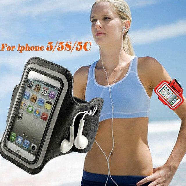 Balck Apple の Iphone 4 5 5 S 5C SE 防水ケースカバージム電話バッグホルダーケースアームバンド電話ポーチ