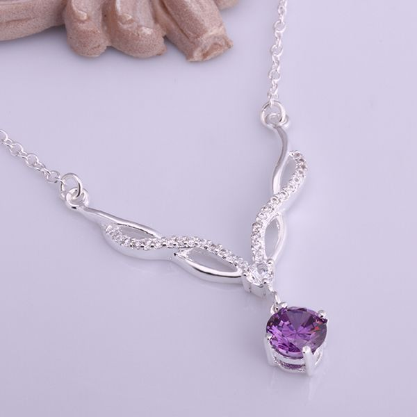 Jewelry & Watches Purple Stone Necklace