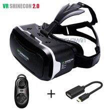 3D Gafas Virtuales Shinecon VR 2.0 Google Realidad Virtual 3 d VR Auricular Casco Head Mount vrbox + Bluetooth Remoto Control
