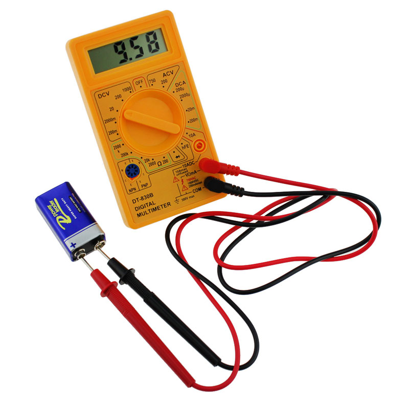 LCD digitális multiméter DT-830B elektromos voltmérő ampermérő - Mérőműszerek - Fénykép 2