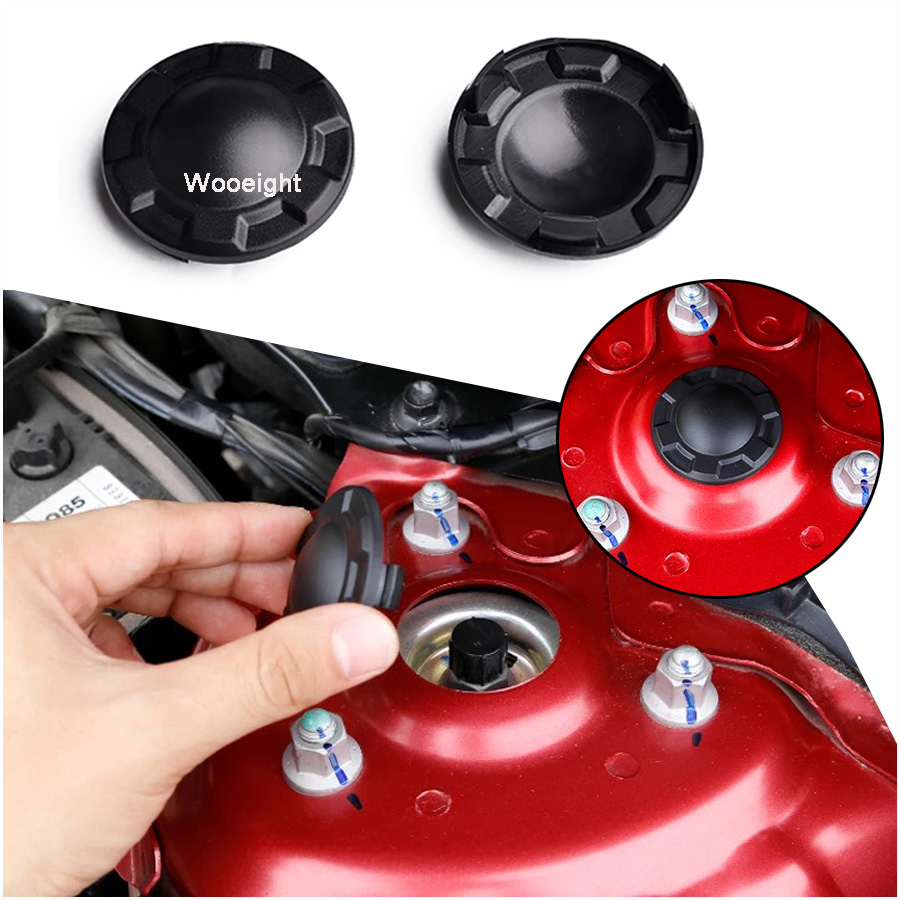 Wooeight 2Pcs ABS Shock Absorber Cover Dust Cap Decorative For <font><b>Mazda</b></font> 3 6 <font><b>2016</b></font> 2017 <font><b>CX5</b></font> <font><b>2016</b></font>-2018 CX-5 CX-9 2017 image