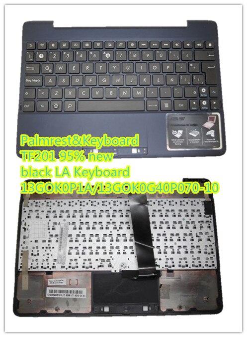 Linda Parts Wholesale store Laptop PalmrestKeyboard For ASUS TF201 black LA Keyboard 13GOK0P1A MP-11F16LA-442 13GOK0G40P070-10 MP-11F16LA-442 95% new