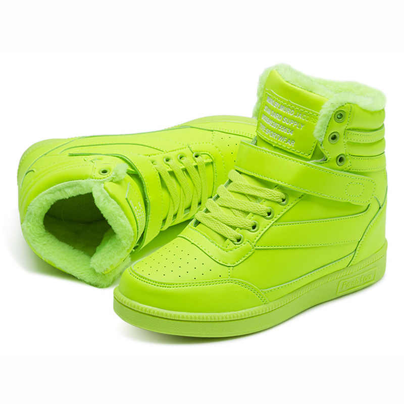 QUANZIXUAN 2019 Nieuwe Vrouwen Laars winter Bont warm Houden enkellaars Vrouwen Sneeuw Boot Platform Verhogen binnen Sneakers Vrouw Schoenen