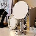 Alta calidad de Escritorio espejo de maquillaje de moda espejo de doble cara espejo portátil belleza espejo de vanidad princesa casada 6 pulgadas