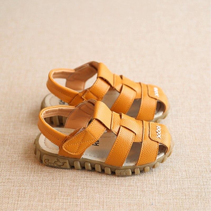 2017 nieuwe lente zomer schoenen jongens zachte lederen sandalen baby jongens zomer prewalker zachte enige lederen strand sandalen