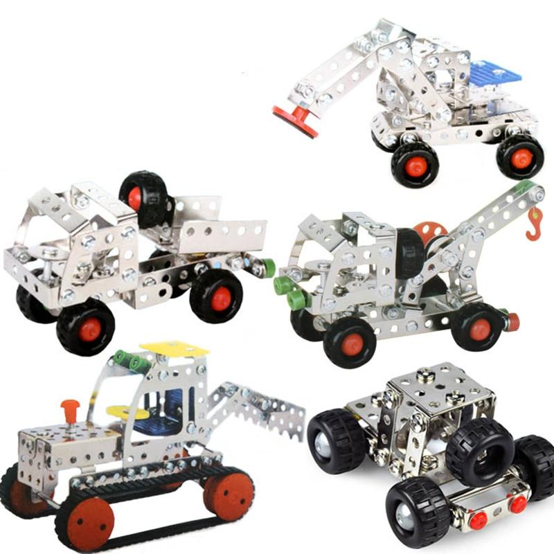5 in 1 metal alloy toy car child diy car model toys