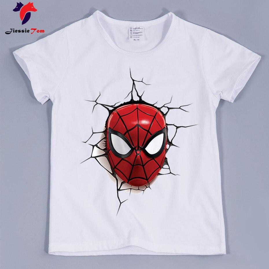 2018 дети супергерой Дизайн прикольные футболки для мальчиков и девочек Милая одежда для малышей Chindern Повседневное Футболки