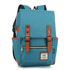 Image 5 - Chuwanglin Retro Men Male canvas College School Student Backpack Casual Rucksacks Travel Bag Laptop bags women bags ZDD7205