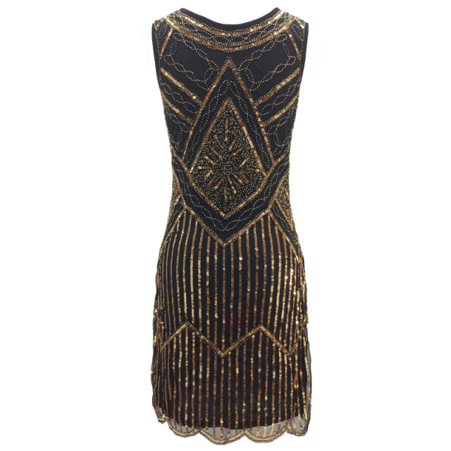 Roaring 20's attire for women in gold and black