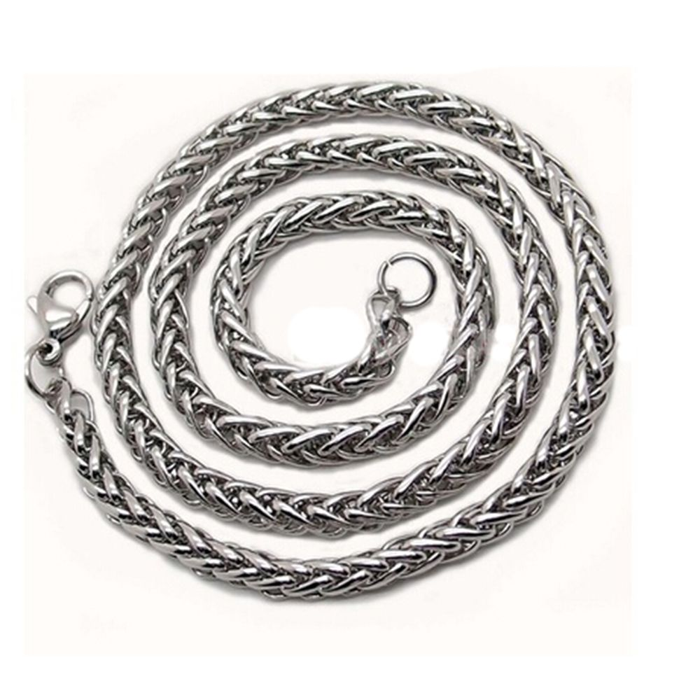 3/4/5/6MM Mens Silver Stainless Steel Whs