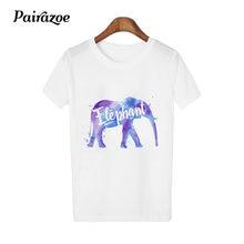 dec626833926e5 harajuku animal print female t shirt women casual cotton t-shirt deer  elephant pattern tshirt white basic ladies tops girl shirt