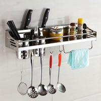 Rack de cozinha de aço inoxidável  prateleira de cozinha  utensílios de cozinha ferramentas gancho rack  suporte de cozinha & armazenamento frete grátis 50 cm 60 cm|steel kitchen racks|kitchen holder|kitchen shelf -