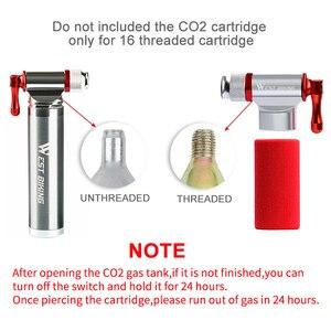 Image 3 - WEST Cycling pompe de vélo Portable en alliage daluminium ultralégère, gonfleur de CO2, Schrader et Presta