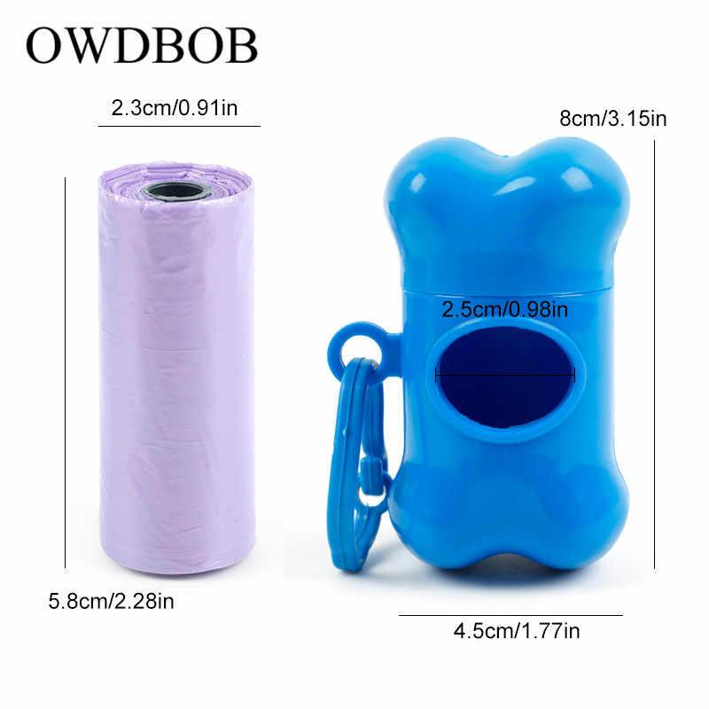 OWDBOB 骨形状ペット犬船尾バッグディスペンサーペットの廃棄バッグ犬ディスペンサー用ゴミ袋キャリアホルダーペット用品