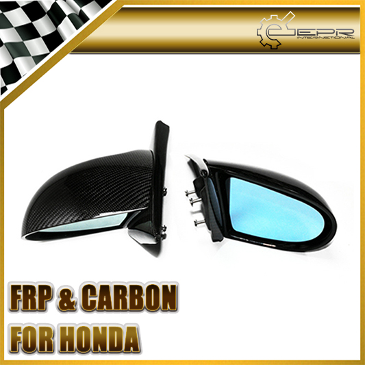 Car-styling For Honda Integra 94-01 DC2 Type-R Carbon Fiber Spoon Style Side Mirror Glossy Fibre Exterior Racing Auto Body Kit car styling for honda civic fd 2006 carbon fiber steering wheel cover glossy fibre interior bearing circle racing auto body kit