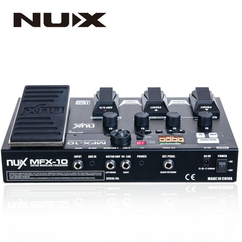 NUX MFX-10 multi-effets processeur pédale de guitare, 55 types d'effets, aux-in, écran LCD