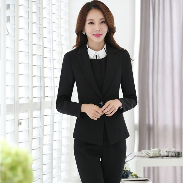 Plus Size Autumn Winter Formal Professional Blazers Business Women ...