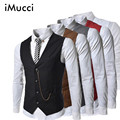 Gentleman Slim Fit Vest Spring Waistcoat Business Vest Men Casual Mens Vests Stylish Waist coat Hot Suit Vest Drop Shipping