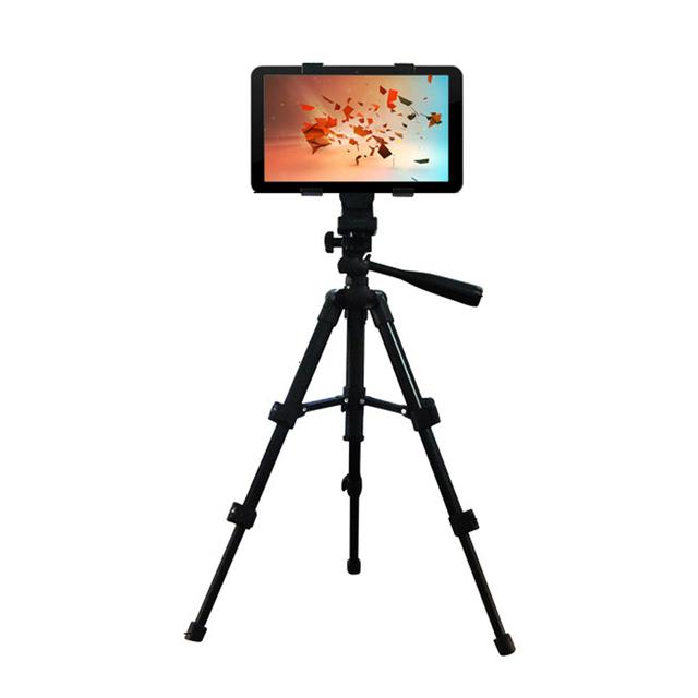 Universal de alta Calidad de Aleación De Aluminio Ajustable del Trípode Plegable Tablet soporte de montaje soporte para ipad 2/3/4 air mini PC