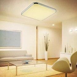 8 sztuk oświetlenie sufitowe LED 520X520 36 W pilot zdalnego sterowania zimny ciepły biały AC 85 265 V płyta czołowa lampa sufitowa biuro w domu dekoracji w Oświetlenie sufitowe od Lampy i oświetlenie na