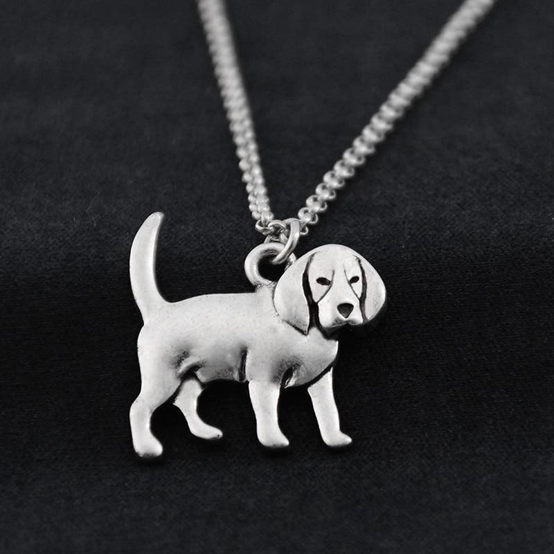 Fei Ye Paws Կանանց Վզնոց Punk Beagle & Coonhound Dog - Նորաձև զարդեր - Լուսանկար 3