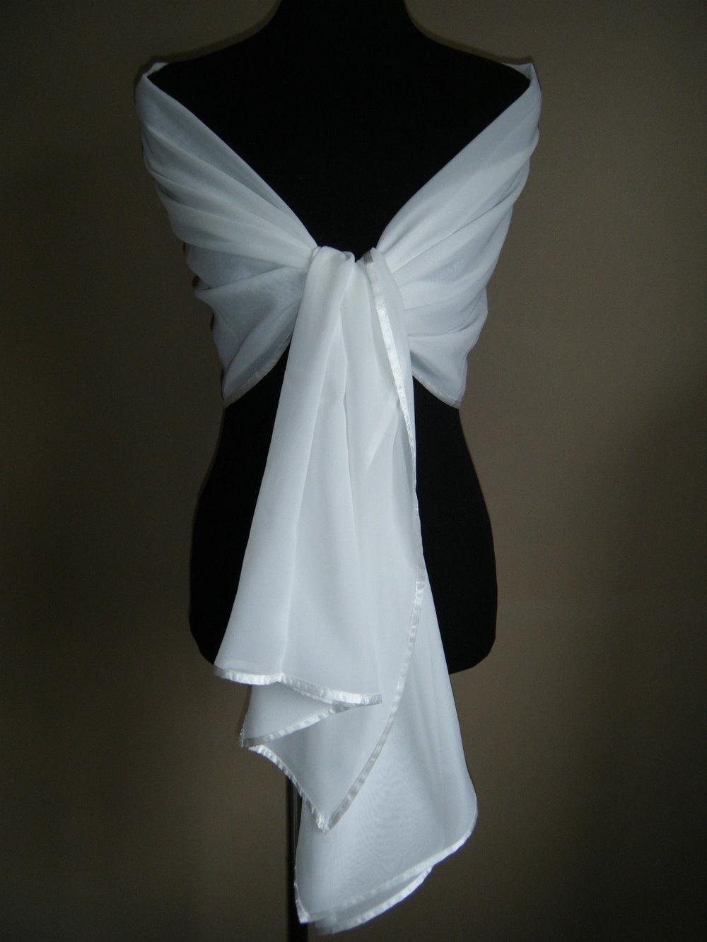 2018 New Chiffon Long Wedding Bolero Cheap Sale Wedding Bridal Jacket Mariage White Jacket Wedding Bridal Shawl Coat  Wraps
