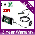 7mm Android Endoscope IP67 Waterproof USB Inspection Snake Tube Camera 2M Cable for Samsung Galaxy S5 S6 Note 2 3 4