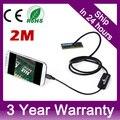7mm Tubo USB Cobra Inspeção Câmera Endoscópio Android IP67 À Prova D' Água 2 m cabo para samsung galaxy s5 s6 note 2 3 4