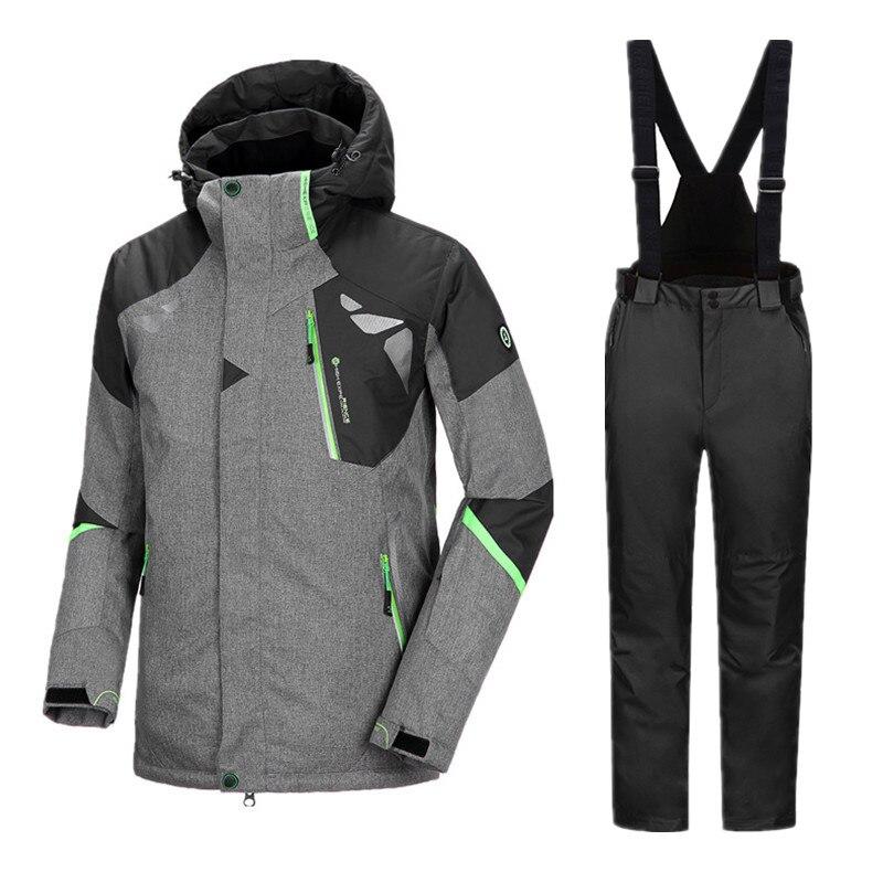 Hiver Hommes de Combinaison de Ski Snowboard Ensembles Hommes D'hiver Imperméables Veste Pantalon Hommes de Sport de costume pour homme pantalon de Ski Snowboard Vestes