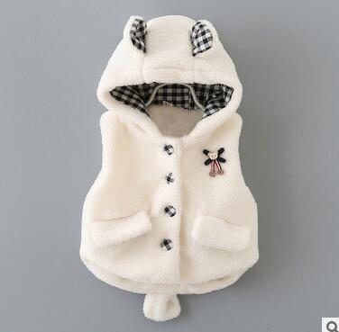 New Arrival Baby Snow Wear Girls Baby Clothing 0-2T White Pink Cute Bow Pattern Winter Outerwear & Waistcoats 2016 Vogue