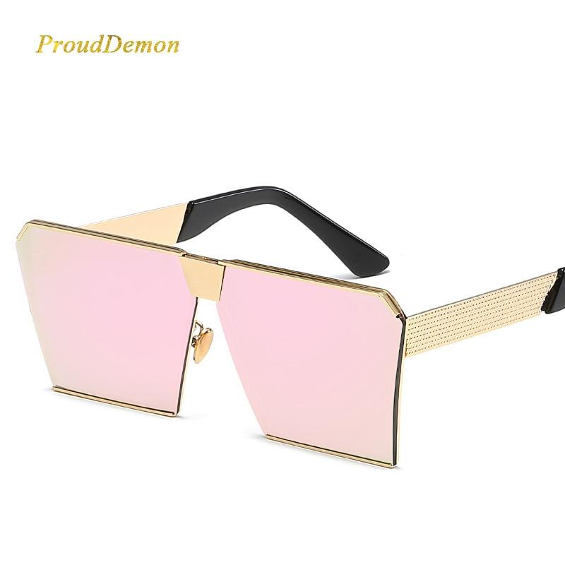 Modemarke Designer Platz Flache linse Sonnenbrille Spiegel Frauen - Bekleidungszubehör - Foto 3